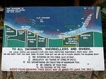 プムトゥランの珊瑚礁プロジェクトの看板