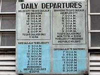 ベリーズシティ・キーカーカー、サンペドロ ボート時刻表