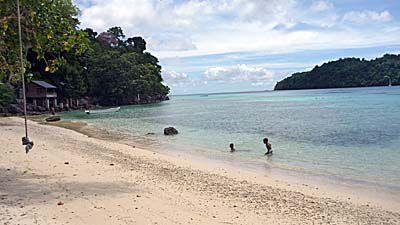 イボイのビーチ