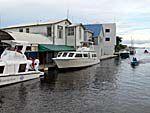 ベリーズシティの船着き場