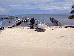 自家用ボートの桟橋