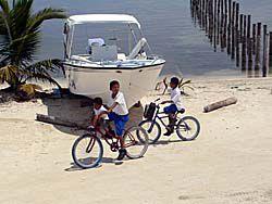 自転車通学をする子供
