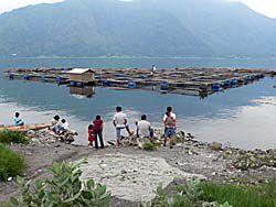 キンタマーニの麓の湖