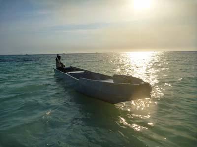 漁師さんのボート。
