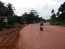 未舗装の道路