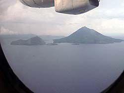 NBA航空の機内からの眺め