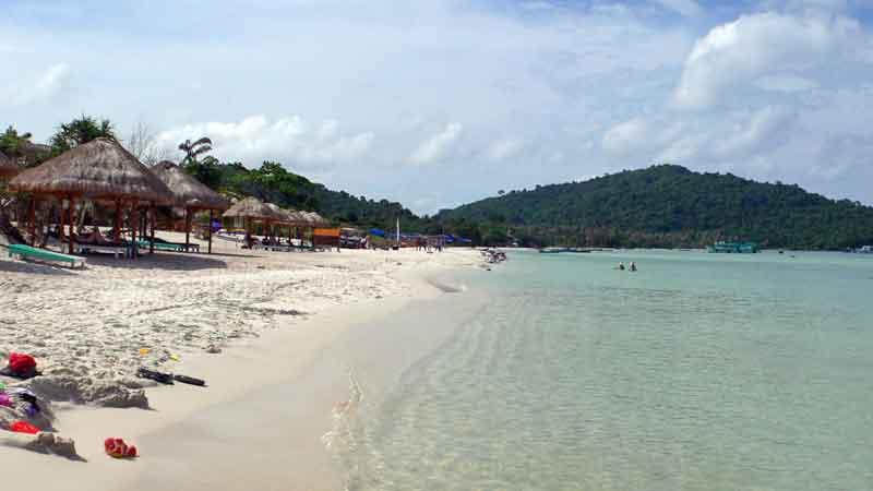 ベトナムのフーコック島のビーチ