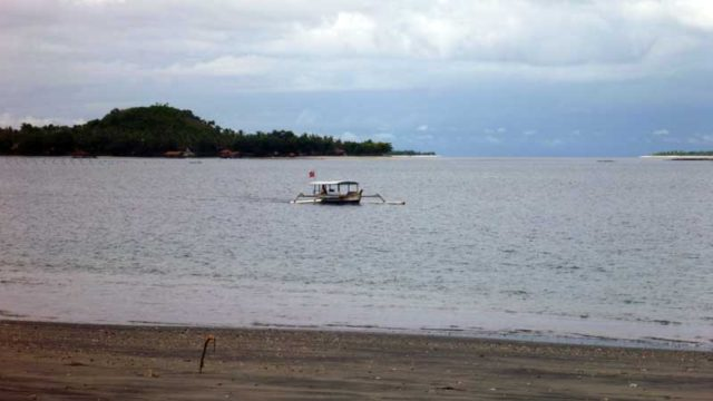 ギリ・アサハンからの迎えのボート