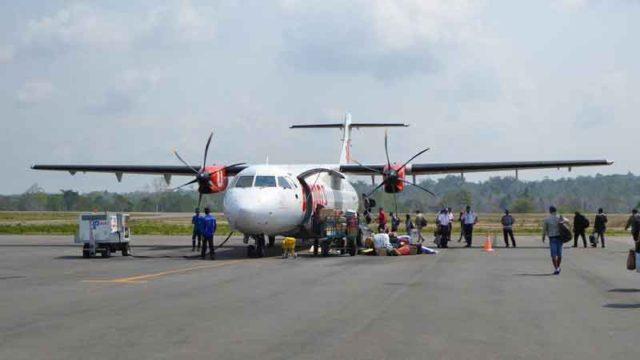 パティムラ空港にいるライオン航空