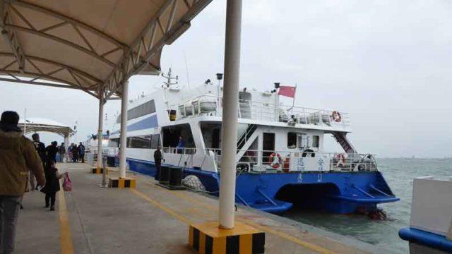 アモイから金門島へのスピードボート