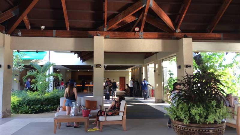 パラオのニッコーホテルの玄関