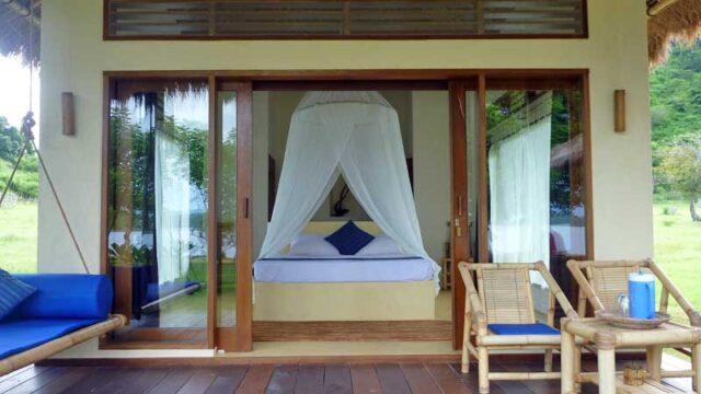インドネシア ロンボク島ギリアサハンのコテージ