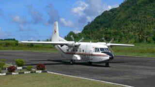 バンダへ飛ぶ飛行機 インドネシア